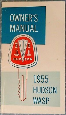 1955 Hudson Wasp Owner's Manual,  Mint Condition