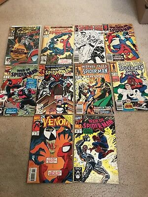 Lot Of 10 Spider Man Comic Books Late 80's Early 90's