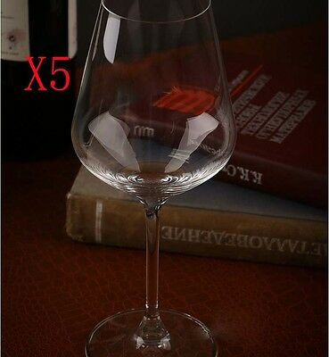 New 5X Capacity 380ML Height 225MM Transparent Red Wine Glass/Glassware %