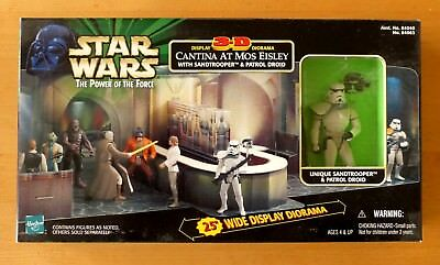 SSTAR WARS POTF  3-D DISPLAY CANTINA AT MOS EISLEY WITH EXCLUSIVE SANDTROOPEr