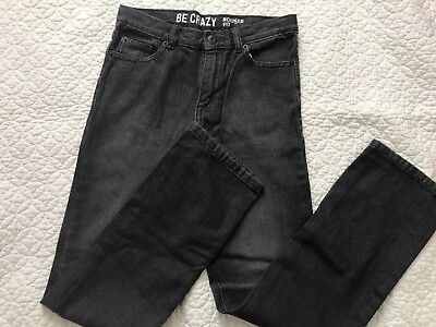 Boys Jeans Be CRAZY Rocker Fit Size 14 Charcoal Gray