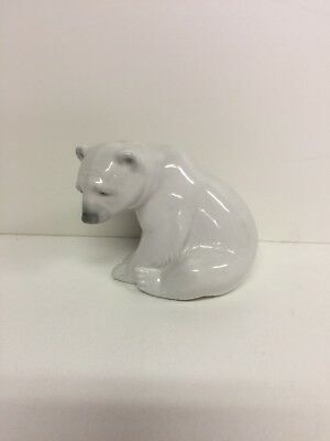 "LLADRO BEAR SITTING #1209, He Is Almost 4"" High"