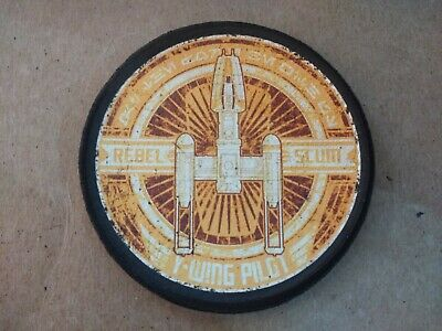036C Funny Embroidered Edge Patch From Our Tiv Range - Star Wars Y-Wing