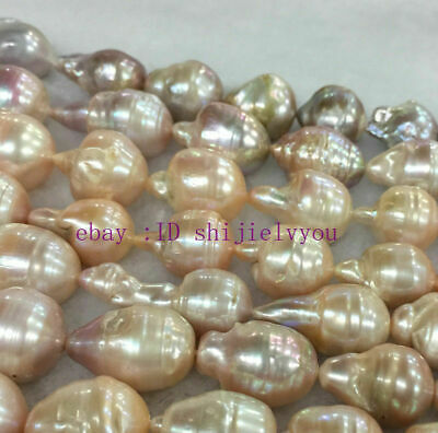 new 15x20mm Natural South Baroque Light pink Akoya Pearl Fashion Loose beads AAA