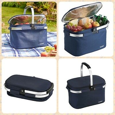 22L Insulated Cooler Bag Travel Picnic Food Drink Lunch Cool Storage Ice Box
