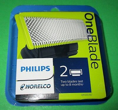 Philips Norelco OneBlade Replacement Blade - 2 Count  QP220/80 *New *Free Ship!!