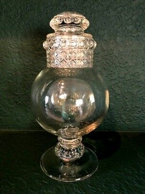 Antique Glass Dakota  Drug Store  Apothecary Candy Jar: Perfect Condition