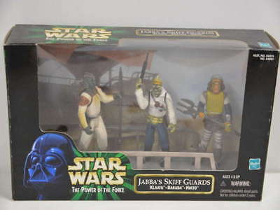 Star Wars The Power of the Force Jabba's Skiff Guards von 1998 - Hasbro
