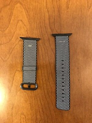 Apple Watch Woven Nylon Band 42mm Black for smart watches authentic genuine New