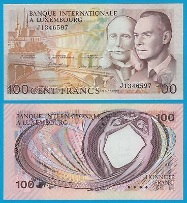 Luxemburg - Luxembourg 100 Francs 1981 Banknote Pick 14A UNC   (20911