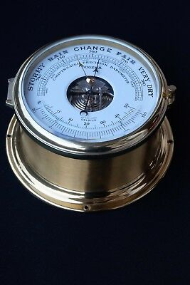 Dugena Schiffsbarometer Compensated Precision Barometer Messing Top!