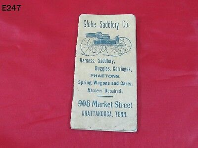 Vintage Globe Saddlery Company Chattanooga Tn Calendar Booklet Buggy Carriage