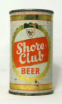 Shore Club Beer 12 oz. Flat Top Beer Can-Lebanon, PA.