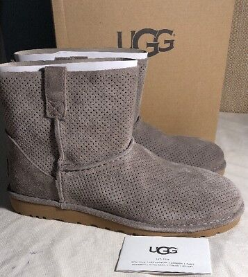 92024b1dc04 WOMEN'S SHOES UGG Unlined Classic Mini Perf Suede Boots 1016852 Mole size  10 NEW
