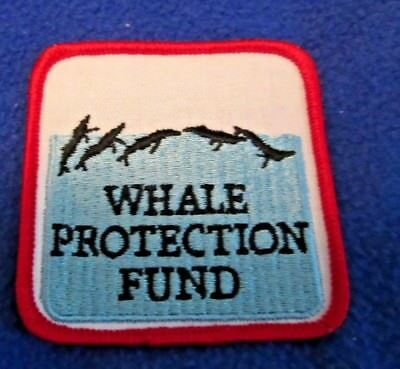 """New Iron On  Whale Protection Fund  Patch 3"""" by 3"""""""