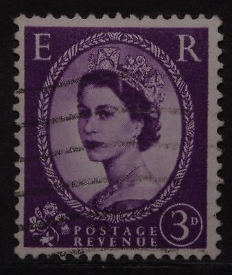 Vintage~British~Great~Britain~Uk~England~English~Queen~Elizabeth~3~D~Stamp~X1~B1
