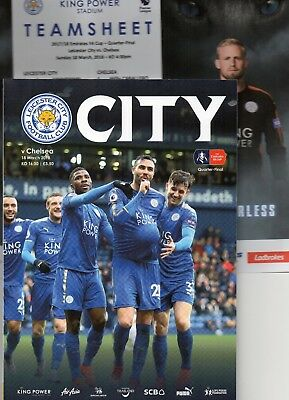 Leicester City v Chelsea 18.03.2018 - Match Programme & Team Sheet - FA Cup