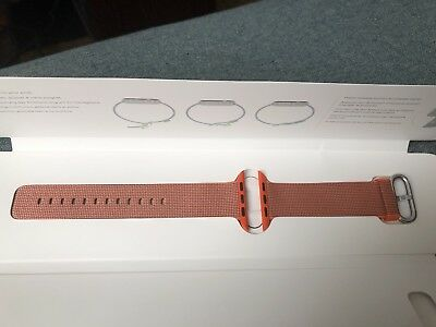 Apple - Woven Nylon for Apple Watch 42mm - Space Orange/Anthracite MNKF2AM/A oem