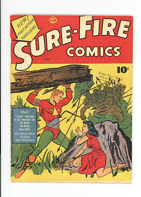 SURE-FIRE COMICS #1 - RARE - ORIGINAL BEAUTIFUL FRONT COVER but Missing pages