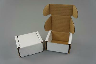 100 White Postal Cardboard Boxes Mailing Shipping Cartons Small Size Parcel OP4