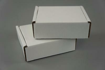 100 White Postal Cardboard Boxes Mailing Shipping Cartons Small Size Parcel OP7
