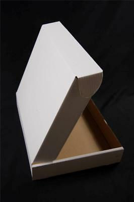 500 White Postal Cardboard Boxes Mailing Shipping Cartons Small Size Parcel OP3