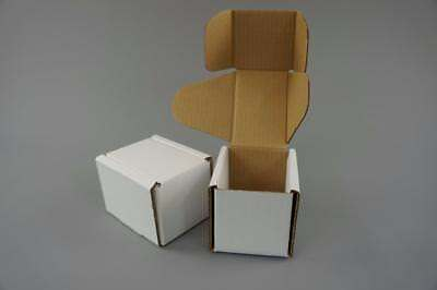 50 White Postal Cardboard Boxes Mailing Shipping Cartons Small Size Parcel OP13