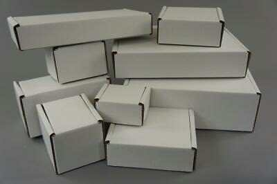 White Postal CardboardBoxes - Royal Mail Small Parcel - 50-1000 Quantity
