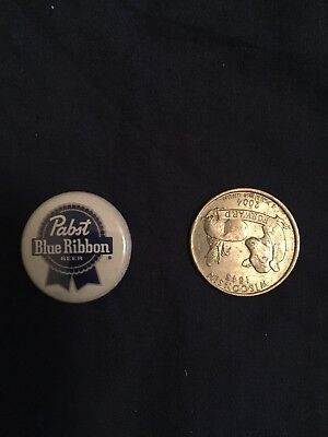 Pabst Blue Ribbon Button Pbr Beer