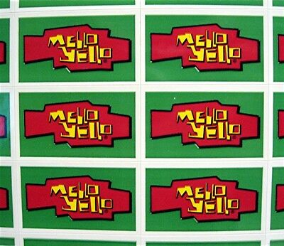 44 Mello Yello Soda Pop Stickers Coca Cola USA 1989 Adv Sheet