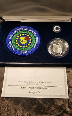 1997 National Law Enforcement Officers Memorial Commemorative Silver Dollar Set