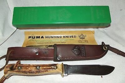 Vintage Puma Hunters-Pal Sheath Knife With Box & Paper, Solingen, Germany
