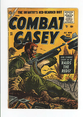 Combat Casey #28 - Very Rare Atlas - Vg Grade - None On Cgc Census 1956