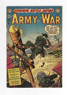 Our Army At War #10 - Very Rare Dc Golden Age War - 1953 - Vg/fn 5.0