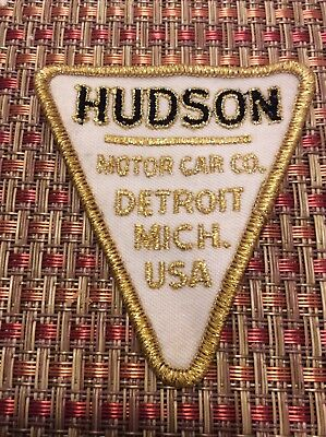 Rare Hudson Motor Car Company Detroit Michigan sew on patch (RE:IS-229)
