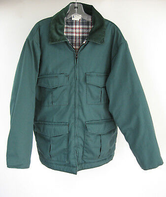 Green Work Coat Mens Sz 46 Reg Pella Big Dutch Quilted Lined 6 Pocket Vtg Jacket