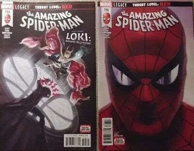 Amazing Spider-Man #795 & 796 1st Print Red Goblin HOT SOLD OUT NM Unread