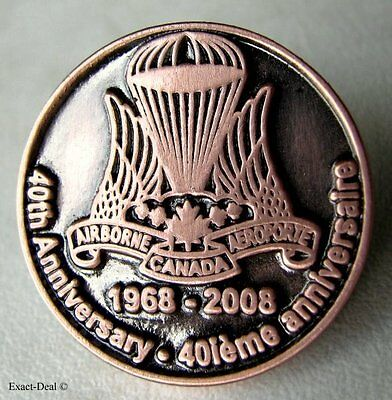 Canadian Airborne Paratrooper 40th Anniv 1968 - 2008 Wing Lapel Pin