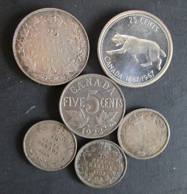 Older Canadian Silver Coin Lot ++ A Must See
