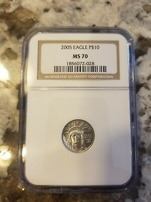 2005 $10 Platinum Eagle Graded MS70 *Flawless*Certified*Perfect*Beautiful* NGC