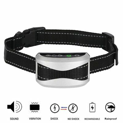 Anti Bark Shock Training Collar Electric Waterproof For Small Med Large Pet Dog
