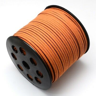 5 M Faux Suede Cord Leather Jewelry Making Beading Thread Chocolate(R007-1055)