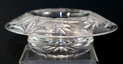 Signed Hawkes Gravic Floral bowl with flared rim, star, early 1900s [11472]