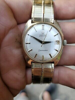 vintage 1966 14k solid gold omega seamaster cosmic automatic cal. 563