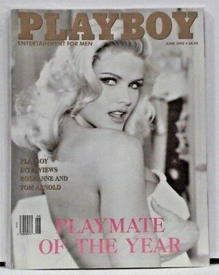 Vintage Playboy Magazine June 1993 Playmate Of The Year Anna Nicole Smith