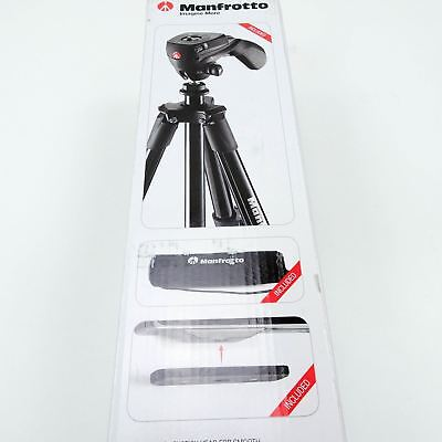 """Manfrotto 60"""" Compact Action Aluminum Tripod Stand Black MKCOMPACTACN-BK New"""
