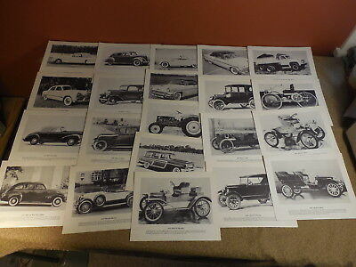 21 FORD Lincoln Car Truck Tractor Black & White Prints Dealer Press 1950's Down