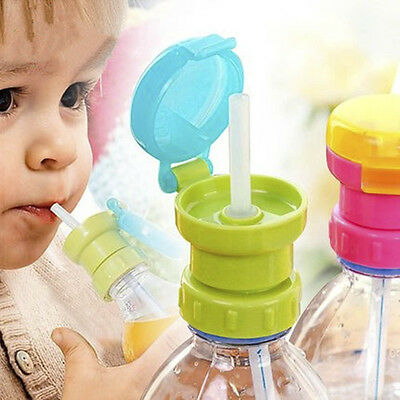1x Kid Elderly Portable Silicone Straw Spill-proof Drink Bottle Spout Cover Tool