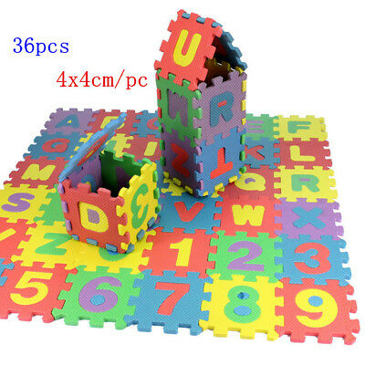 36pcs Kids Baby Toddler EVA Foam Floor Puzzle Safety Alphabet Number Play Mat
