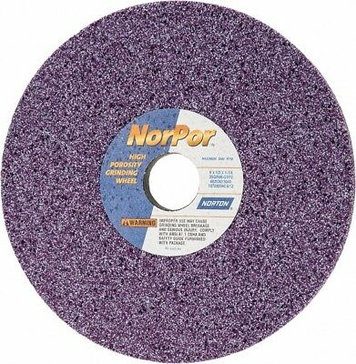 "Norton NorPor™ 8"" x 1/2"" G Hardness 46 Grit Ceramic Surface Grinding Wheel"
